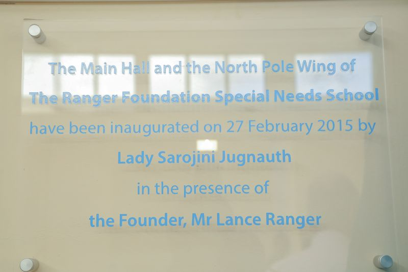 The Ranger Foundation inauguration plate
