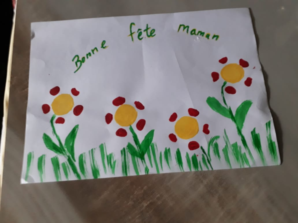 Mothers Day Art at Special Needs School
